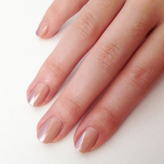 Diy nude and metallic nail art using mac nail polish popsugar beauty australia - Nail art nude ...