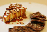 Brie With Almonds and Caramel