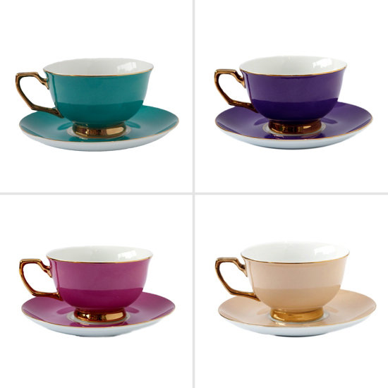 Jewel-Toned Tea Cups