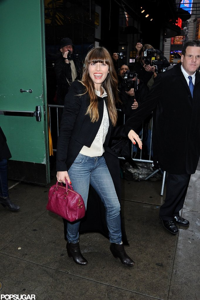 Jessica Biel wrapped up her morning appearance.