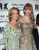 Kerry Kennedy and Taylor Swift posed on the red carpet at the Ripple of Hope Gala in NYC.