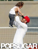 David Beckham played with Harper during Cruz's LA soccer match in September.