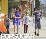 Victoria Beckham took her kids Halloween shopping around LA in October.