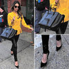 Lily Aldridge Carrying Celine Tote