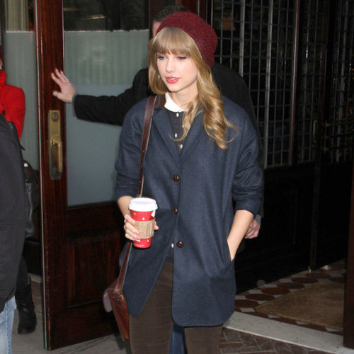 Taylor Swift Wearing Red Beanie