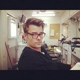 Josh Duhamel stole Emmy Rossum's glasses on the set of You're Not You. Source: Instagram user emmyrossum