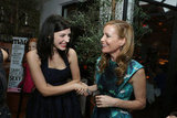 Leslie Mann and Jessica Pare laughed at the LA dinner.