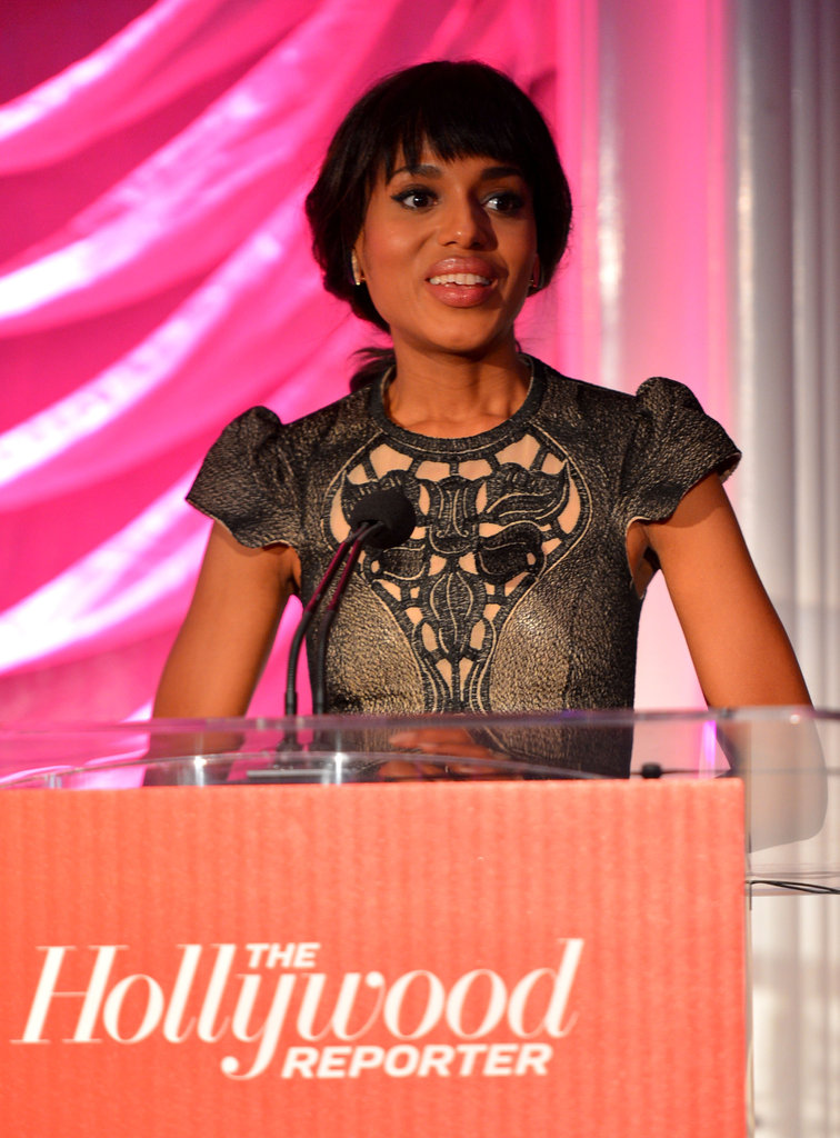 Kerry Washington was on stage at the breakfast in LA.