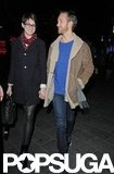 Anne Hathaway held hands with Adam Shulman.