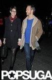 Anne Hathaway held hands with Adam Shulman.