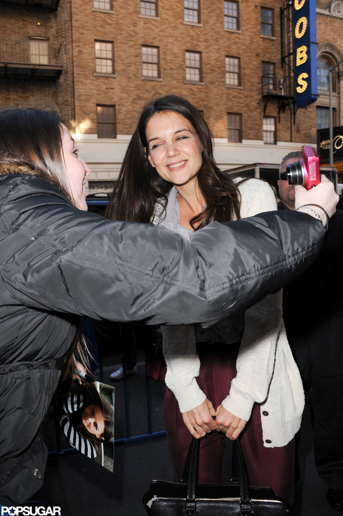 Katie Holmes posed for a picture.