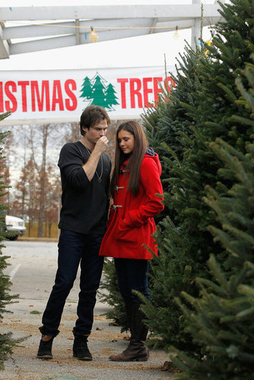 Nina Dobrev and Ian Somerhalder found a Christmas tree in Atlanta.