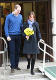 Kate Middleton walked out of a London hospital.