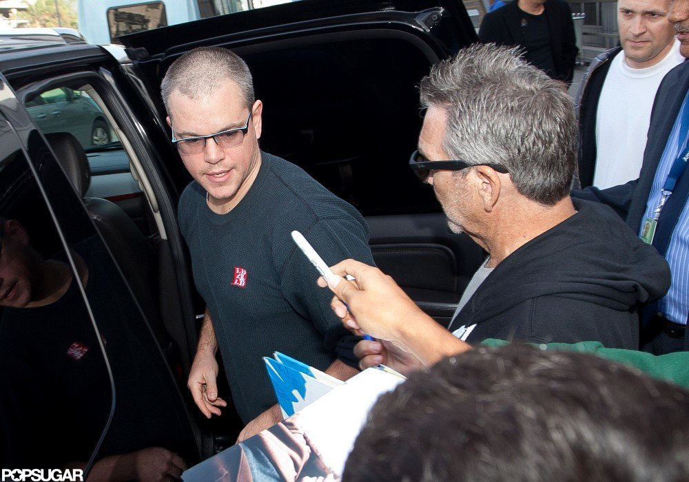 Matt Damon signed autographs while out in LA.