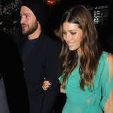 Justin Timberlake and Jessica Biel at Playing For Keeps