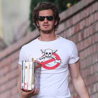 Andrew Garfield Buying Books in LA