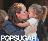 Jennifer Garner leaned in to give Seraphina Affleck a kiss during a mommy-and-me breakfast date in LA in January.