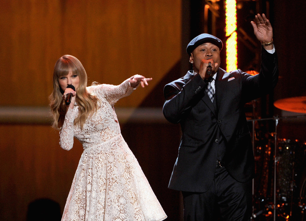 Taylor Swift and LL Cool J were on stage in Nashville.