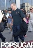 Matt Damon walked with his family in LA.