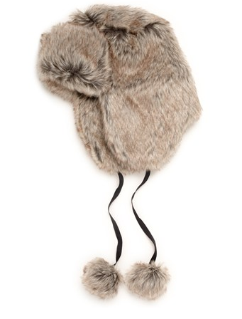 This French Connection furry trapper hat ($68) has the most adorable pom-pom tassels on the ends. Don't you just want to cuddle up to it?