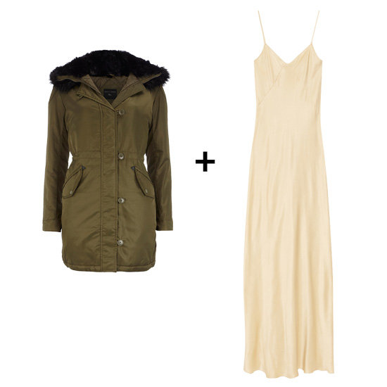 Hooded Parka + Sexy Slipdress