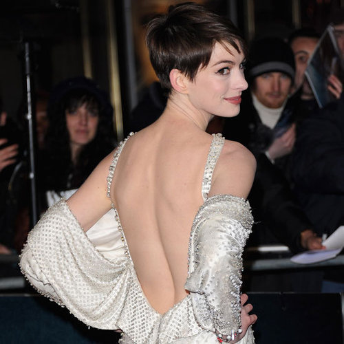 See Anne Hathaway in Givenchy at Les Miserables UK Premiere