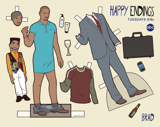 See All the Happy Endings Characters as Paper Dolls
