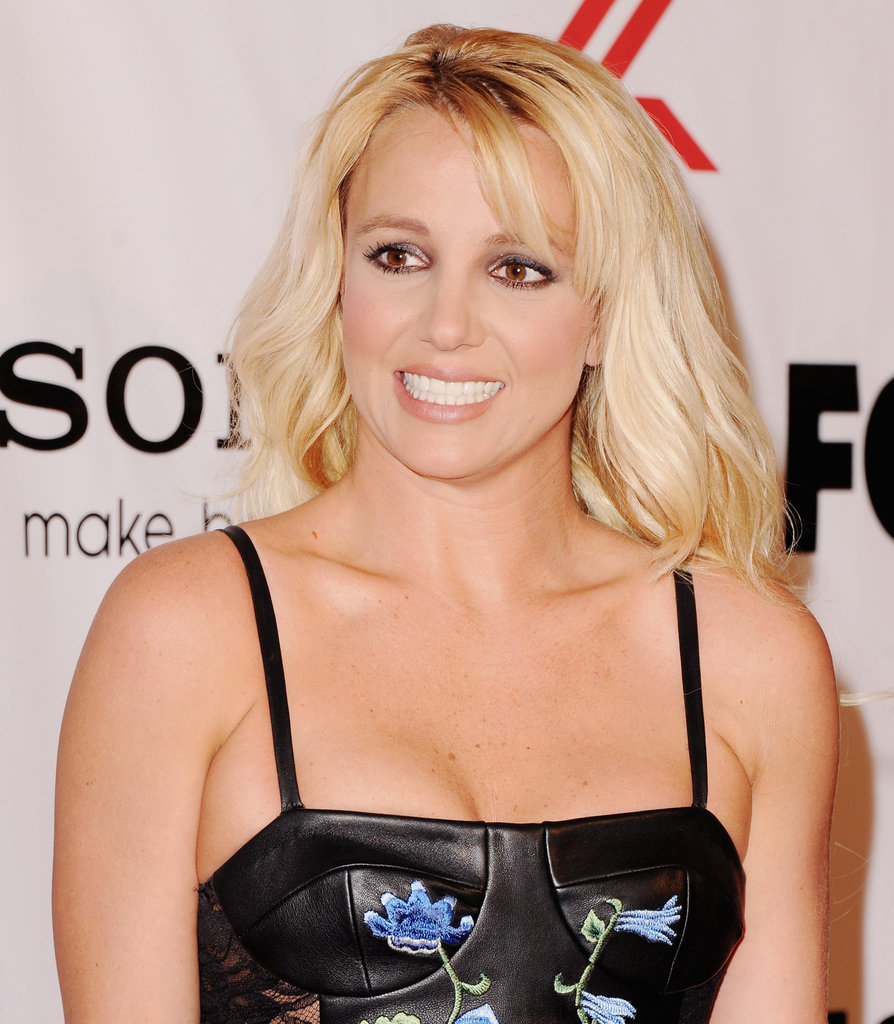 Britney Spears smiled for photographers.
