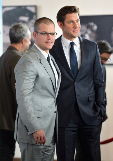 Matt Damon and John Krasinski premiered Promised Land in LA.