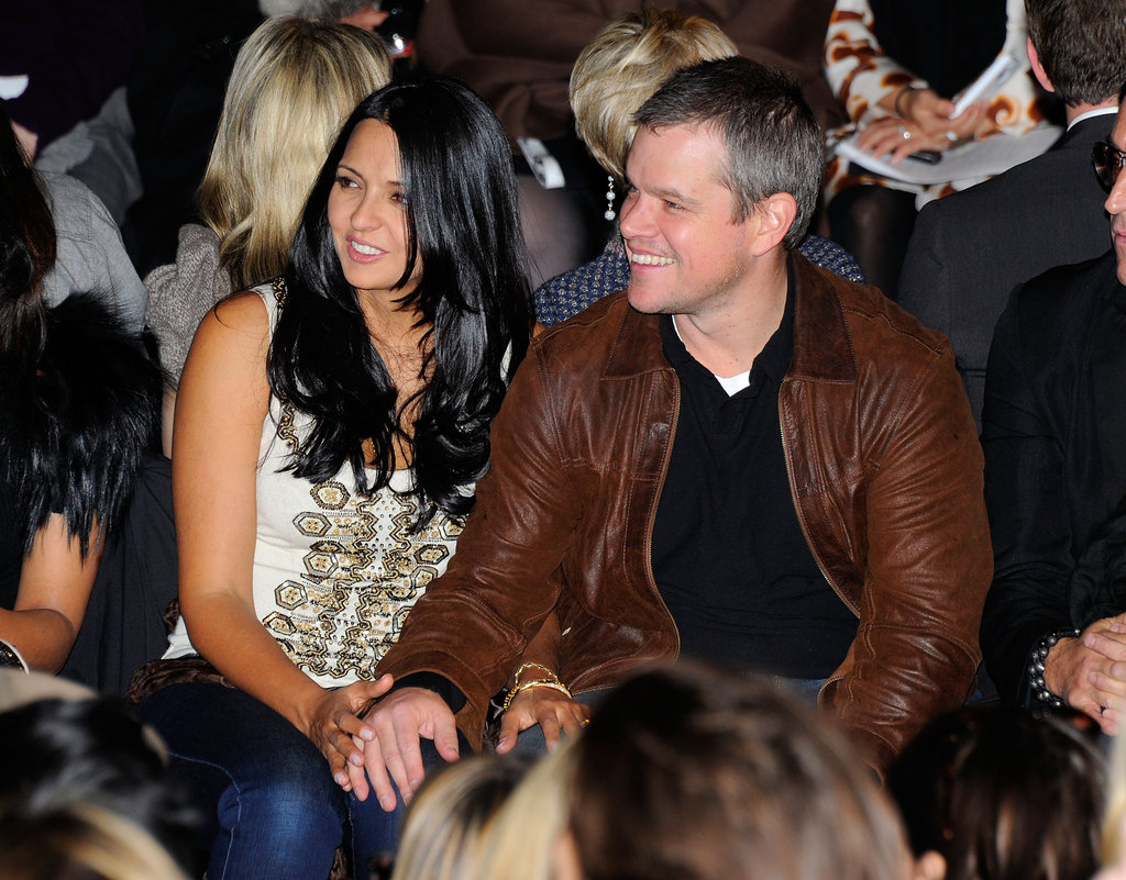 Matt joined Luciana Damon front row at NY Fashion week in February 2012.