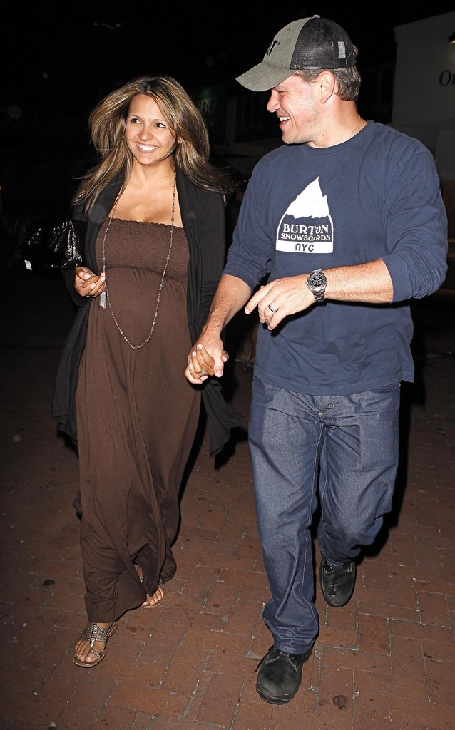 Matt and Luciana Damon dined at Nobu in Malibu in June 2008.