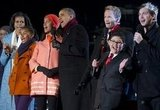Neil Patrick Harris, actor Rico Rodriguez from Modern Family, and American Idol season 11 winner Phillip Phillips joined the Obamas.