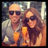 Chris and Rebecca Judd enjoyed a posh drop together. Source: Instagram user becjudd