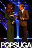 Kate Middleton and David Beckham were on stage at the awards in London.