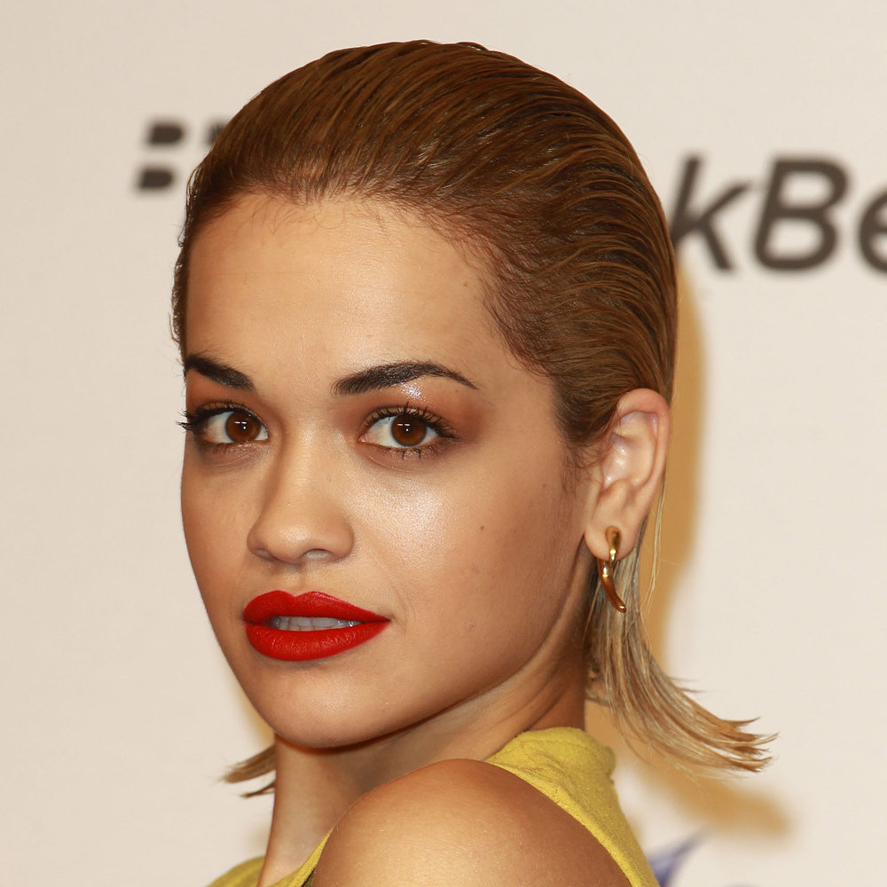 Rita Ora's wet-look hair