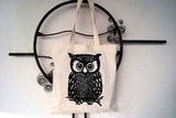 Owl Cotton Canvas Tote