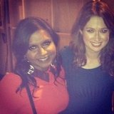 Mindy Kaling caught up with her The Office costar Ellie Kemper during her guest spot on The Mindy Project. Source: Instagram user mindykaling