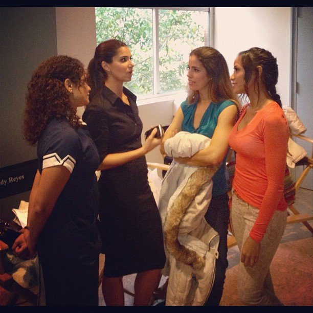 Dania Ramirez had a pow-wow with her Devious Maids costars. Source: Instagram user markofthebeast