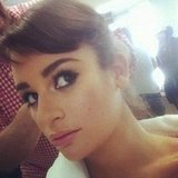 Lea Michele reminded fans they were worth it as she prepped for a L'Oreal shoot. Source: Instagram user msleamichele