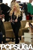 Jessica Simpson shopped for shoes in Beverly Hills.