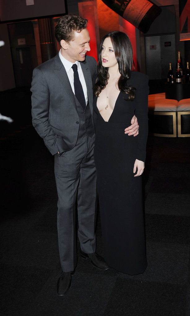 Tom Hiddleston with Andrea Riseborough shared a moment at the BIFAs.
