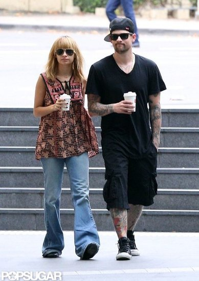 Nicole Richie and Joel Madden walked side by side in Australia.