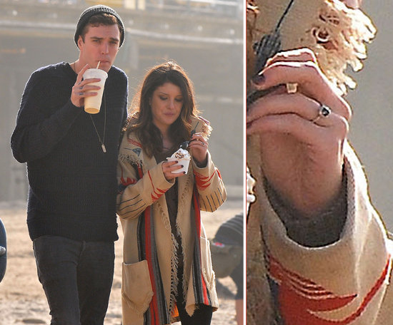 Shenae Grimes debuted her engagement ring from her male model fiancé Josh Beech in December 2012.