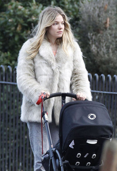 Sienna Miller wore her hair loose in London.