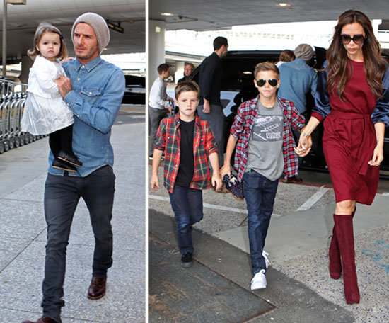 The Beckhams Head to London For the Holidays