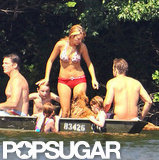 Blake Lively spent the Fourth of July weekend in her bikini with family, friends, and now-husband Ryan Reynolds.