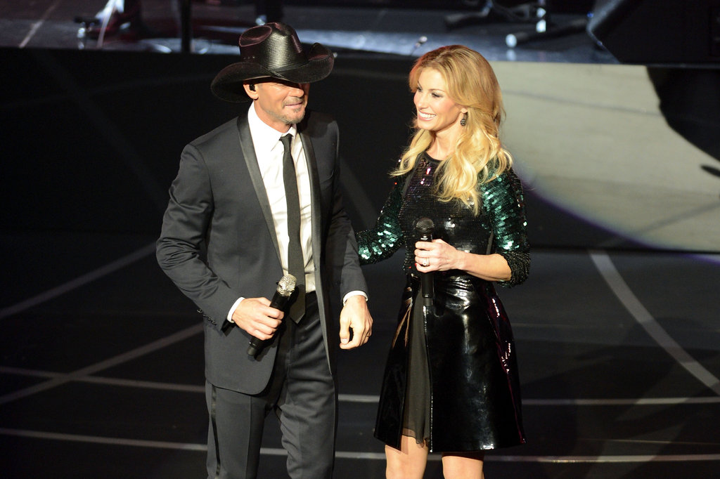Tim McGraw and Faith Hill performed together.