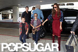 The whole Beckham family got dropped off at LAX.