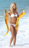 Erin Heatherton wrapped herself up in a sarong.