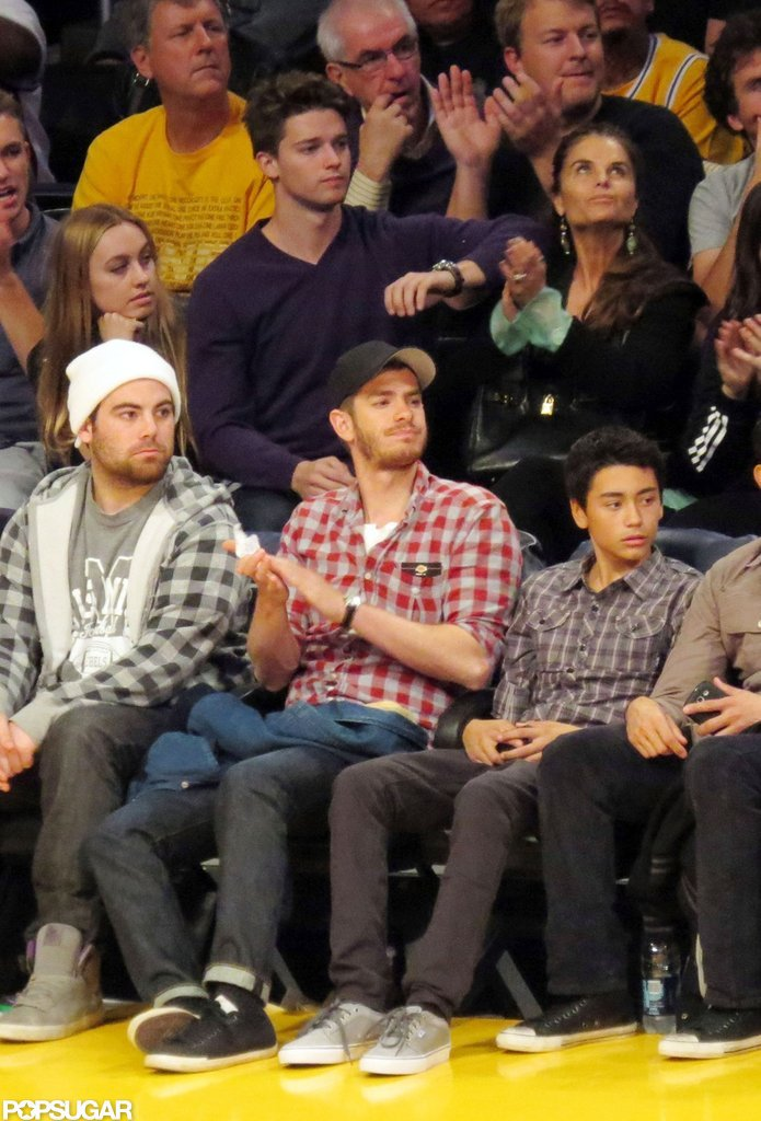 Andrew Garfield cheered on the home team.